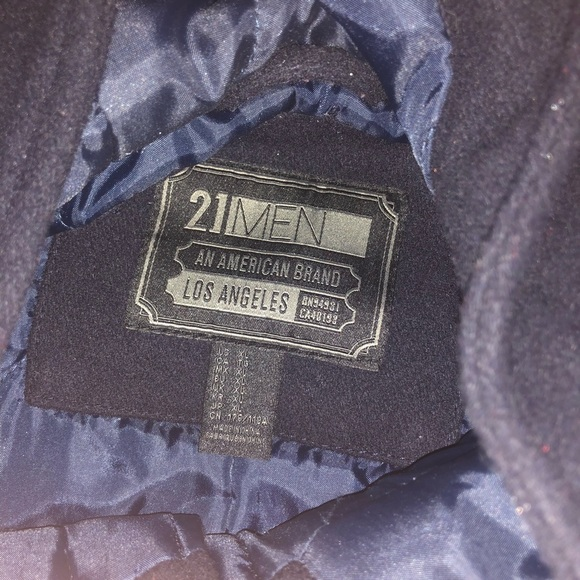 Forever 21 Other - Navy blue 21 men by forever 21 peacoat jacket xl